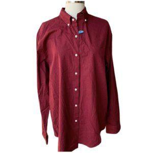 J.CREW Stretch Secret Wash Shirt M Red Button Down